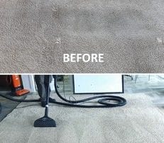 carpet cleaning before and after comparison